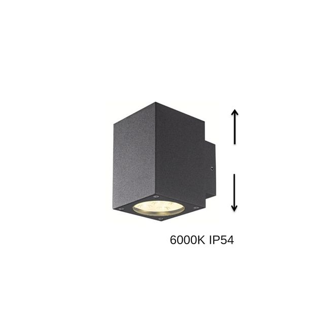 LED seinävalaisin STYLE SQUARE 6x1W, IP54 grafiitti 6000K
