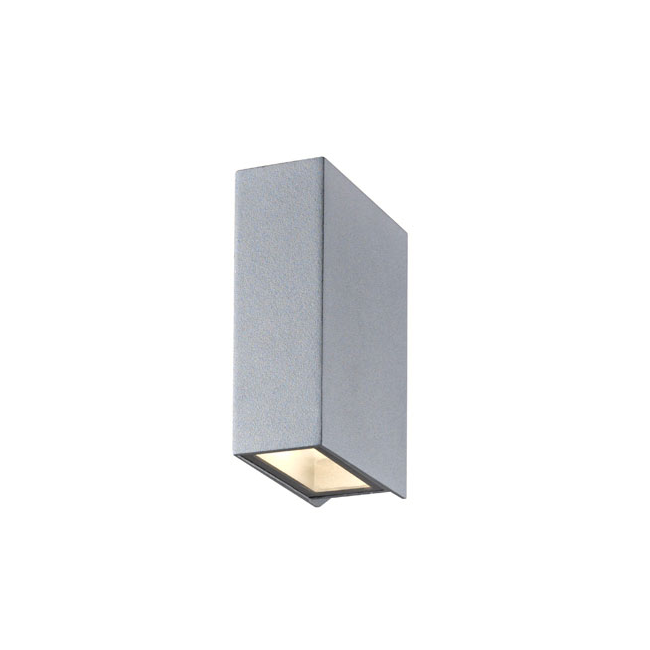 LED seinävalaisin BOX SILVER 2x3W IP54